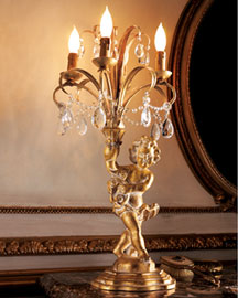 Horchow Cherub Lamp