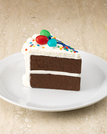 "Horchow Chocolate ""Birthday Cake Slice"" Set"