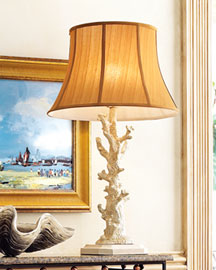 Horchow White Coral Lamp