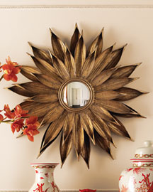 Horchow Sunflower Mirror -  Wall Decor & Mirrors -  Horchow