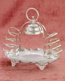 Horchow Toast Rack with Bell, c. 1885