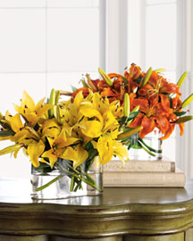 Horchow Faux Lily Arrangement