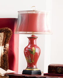 Horchow Red Porcelain Lamp