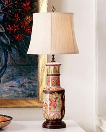 Horchow Porcelain & Brass Lamp