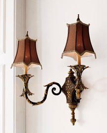 "Horchow ""Acanthus Leaf"" Two-Arm Sconce"