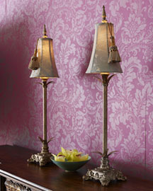 Horchow Damask Buffet Lamps