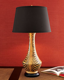 "Horchow ""Tiger"" Lamp"