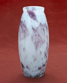 Horchow Blue & Purple Pate de Verre Vase, c. 1930