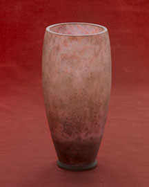 Horchow Purple Pate de Verre Vase, c. 1930