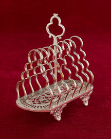 Horchow Toast Rack with Pierced Base, c. 1875