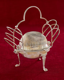 Horchow Toast Rack with Butter Dish, c. 1890