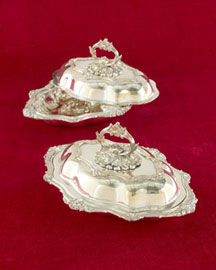 Horchow Pair of Covered Entree Dishes, c. 1890