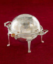 Horchow Round Butter Dish with Revolving Lid, c. 1880-1890