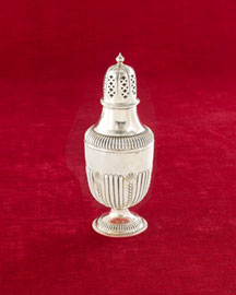 Horchow Silver-Plated Sugar Shaker, c. 1900