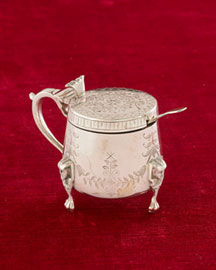 Horchow Engraved Mustard Pot, c. 1890