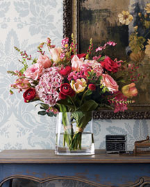 Faux Red and Pink Flowers -   Horchow