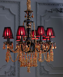 Black & Amber Chandelier : chandeliers : lighting : bar & foyer : shop by room - Horchow Home Interiors
