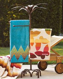 Tropical Towel Stand : umbrellas : garden : shop by room - Horchow Home Interiors :  tropical towel stand garden tropical horchow