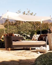 Tete-a-Tete with Canopy : outdoor furniture : garden : shop by room - Horchow Home Interiors