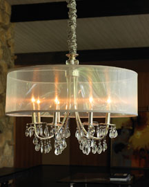 Chrome Shaded Chandelier -  Horchow