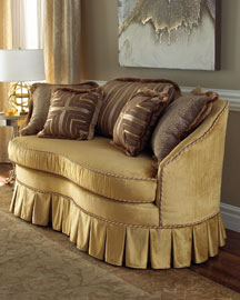 Golden Loveseat : sofas : sofas and chairs : bedroom : shop by room - Horchow Home Interiors :  sofas and chairs golden loveseat home sofas