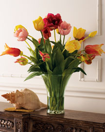 Faux Tulip Bouquet : faux florals & planters : decorative accents : decor : shop by category - Horchow Home Interiors