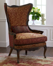 Chestnut Wing Chair