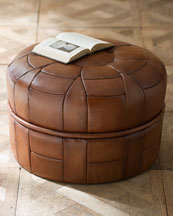 Brown pouf