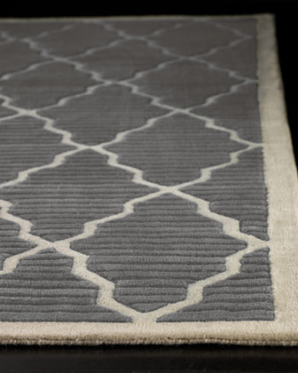 Modern Wool Rug | horchow.