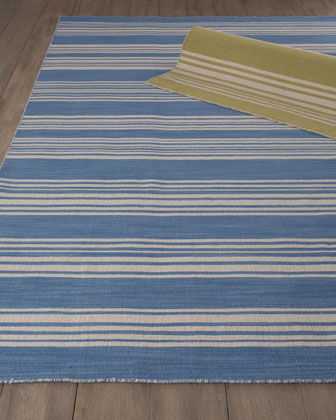 Striped Flatweave Rug, 5' x 8'