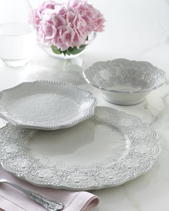 Four Scalloped Merletto Cereal Bowls