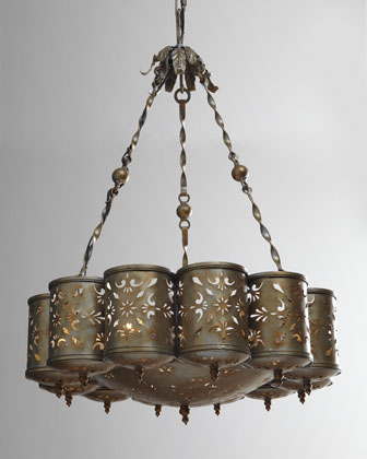 Pierced Metal Chandelier
