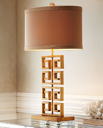 Greek Key Table Lamp