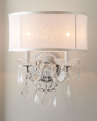 Sheer-Shaded Sconce