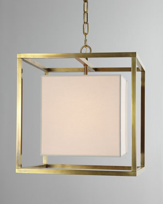 Cube Caged Lantern Pendant Light